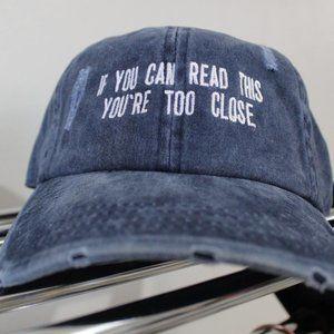 Distressed Denim Fashion Hat